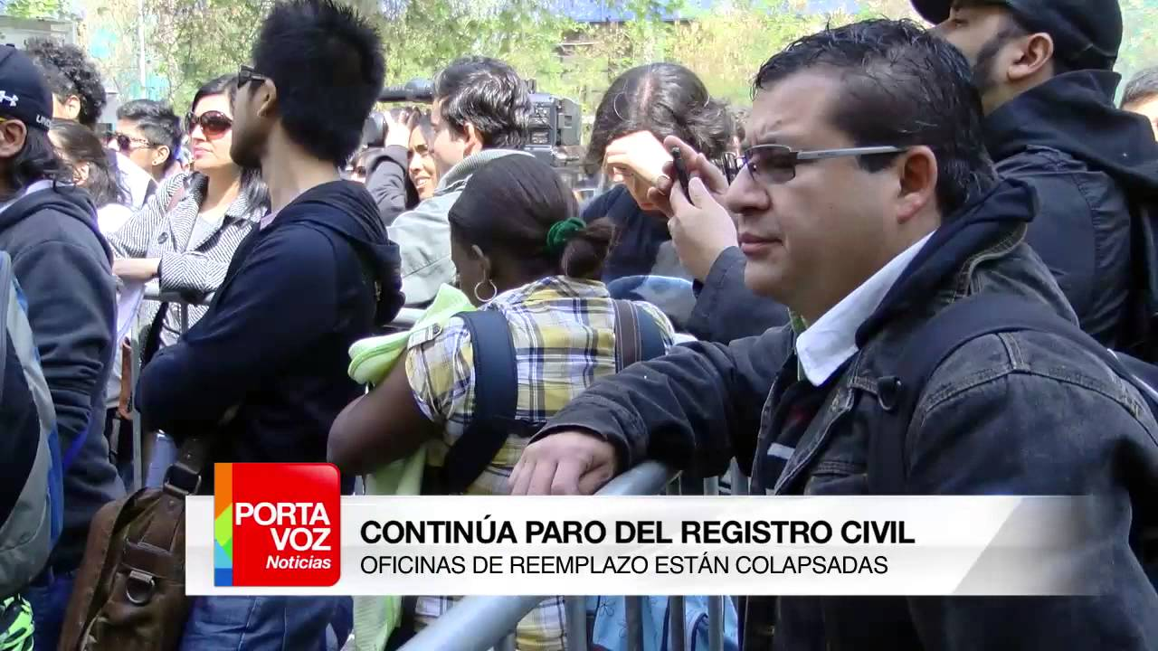 Contin a paro del registro civil la red for Oficina del paro